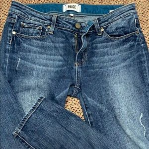 Paige Skyline Ankle Peg Jeans 27